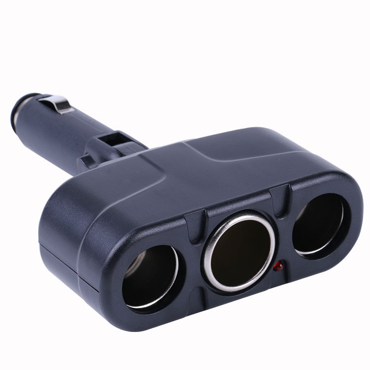 Car Cigarette Lighter 3 Socket with 180 Degree Rotation