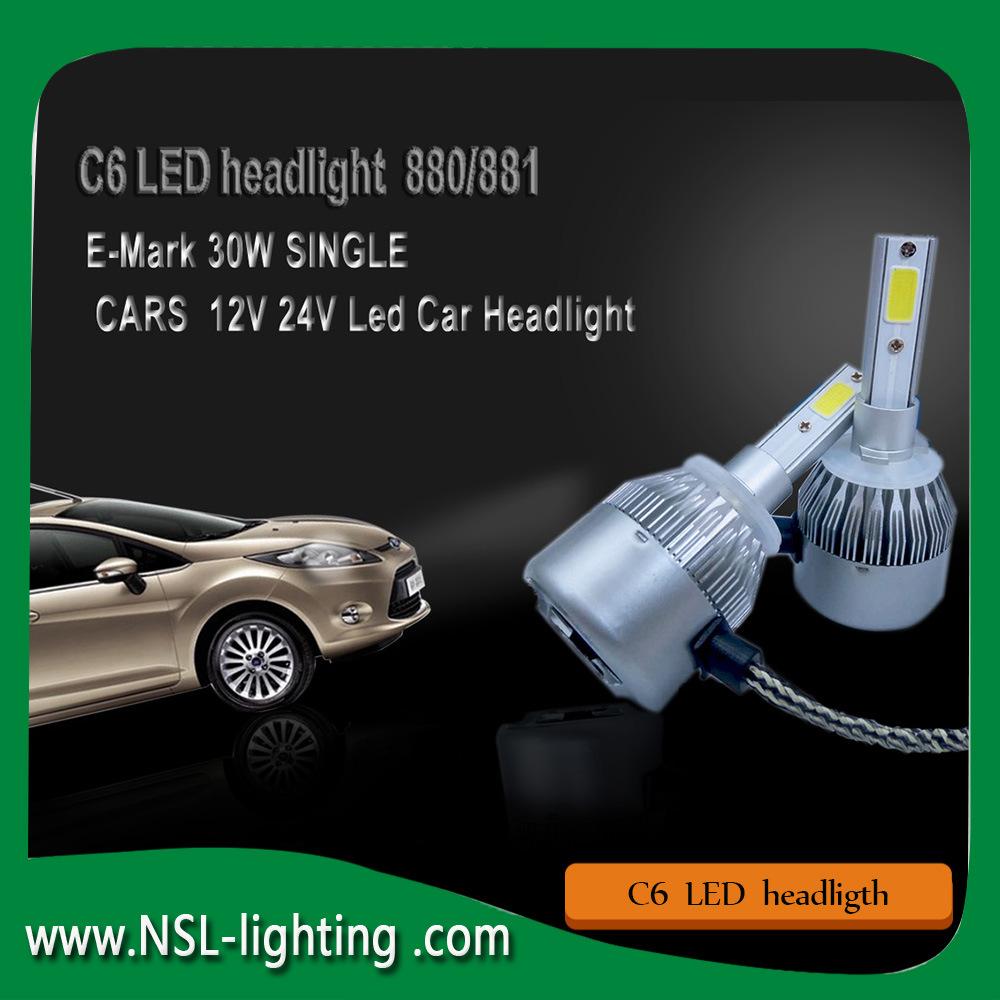 C6 Led Headlight For Cars Motorcycle Auto Headlight Conversion Kit