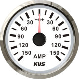 52mm Ammeter/AMP Gauge White Faceplate with Reasonable+/--150A with Current Pick-up Sensor for Universal Motorcycle Boat Yacht