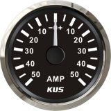 52mm Ammeter/AMP Gauge Black Faceplate with Reasonable+/--50A with Current Pick-up Sensor for Universal Motorcycle Boat Yacht