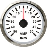 52mm Ammeter/AMP Gauge White Faceplate with Reasonable+/--50A with Current Pick-up Sensor for Universal Motorcycle Boat Yacht