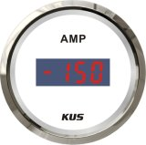 52mm Ammeter/ Digital Ampere Gauge +/--150A with Ampere/Current Sensor White Face for Car Truck Universal Yacht Boat
