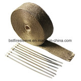 Catalytic Converter Turbo Header Exhaust Lava Rock Titanium Heat Wrap