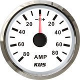 52mm Ammeter/AMP Gauge White Faceplate with Reasonable+/--80A with Current Pick-up Sensor for Universal Motorcycle Boat Yacht