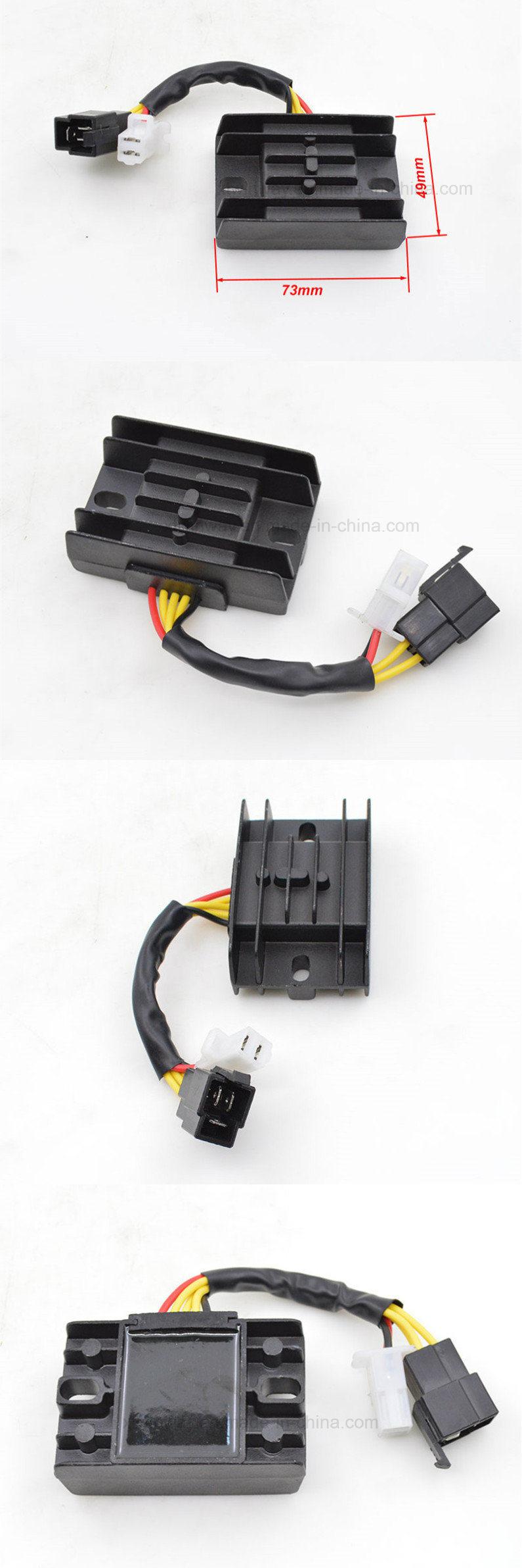 Ww-8201, Motorcycle Suzuki Gn125 GS125 Motorcycle 5 Wires Voltage Regulator  Rectifier   IBUYautoparts com