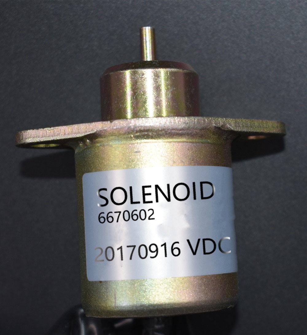New 6670602 Fuel Shut off Solenoid for Bobcat 463-553-S70-S100    IBUYautoparts com