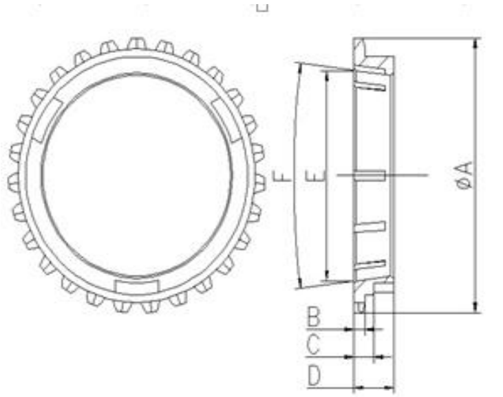 Daihatsu Engineering Vehicle Transmission Gearbox Synchronizer Ring