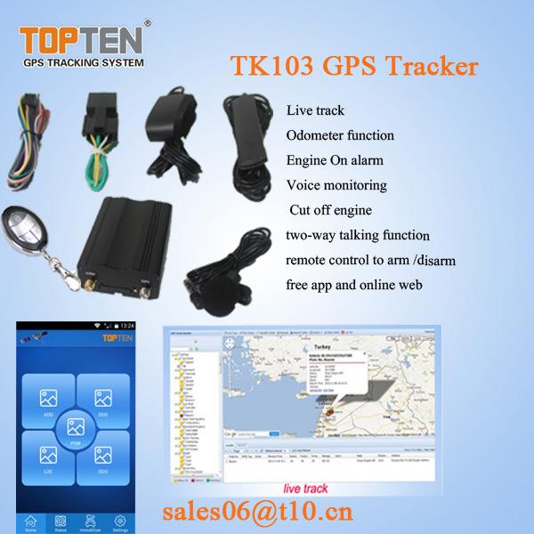 GPS Car Alarm with Door Open Alert, Remotely Cutoff Engine Tk103-Ez |  IBUYautoparts com